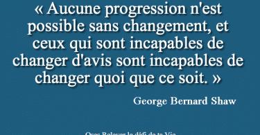 Aucune progression n'est possible sans changement