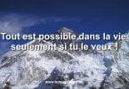reussir Tout est possible dans la vie seulement si tu le veux !