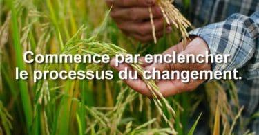 Commence par enclencher le processus du changement.